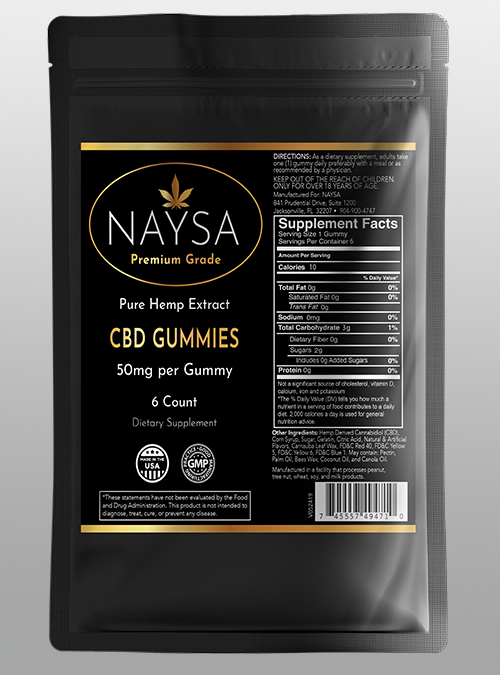 cbd Gummies - 50mg 6ct Pouch