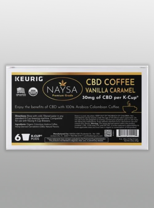 cbd coffee K-cups Keurig 30mg Vanilla Caramel - Naysa - Herbane Health
