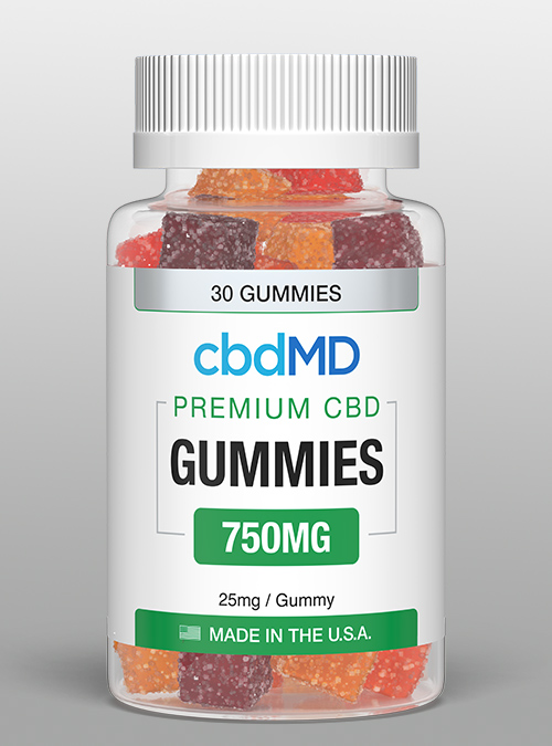 cbd gummies 750mg cbdMD bottle