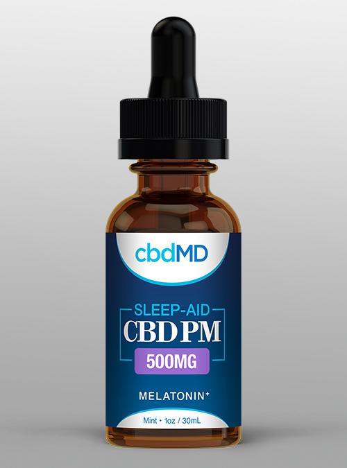 cbd Sleep Aid 500mg cbdMD, chamomile, cbd oil, melatonin, mint - Herbane Health