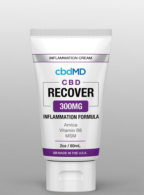 cbd recover inflammation 300 cbdMD cream squeeze - Herbane Health