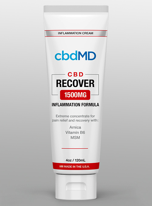 cbd recover inflammation 1500 cbdMD cream squeeze - Herbane Health