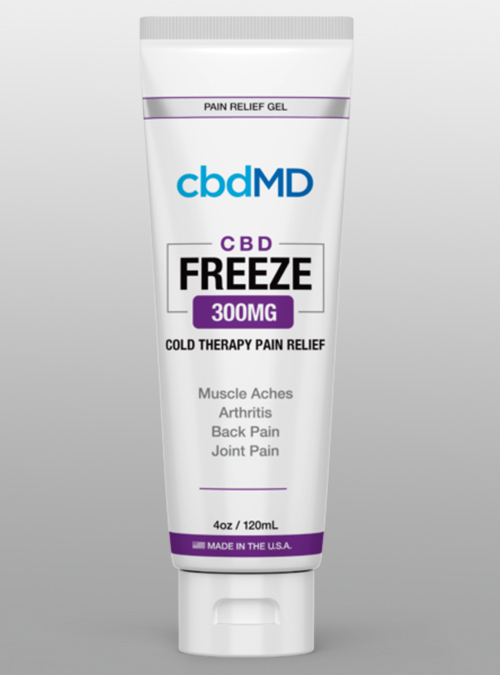 cbd freeze 300mg squeeze tub cream cbdMD - Herbane Health