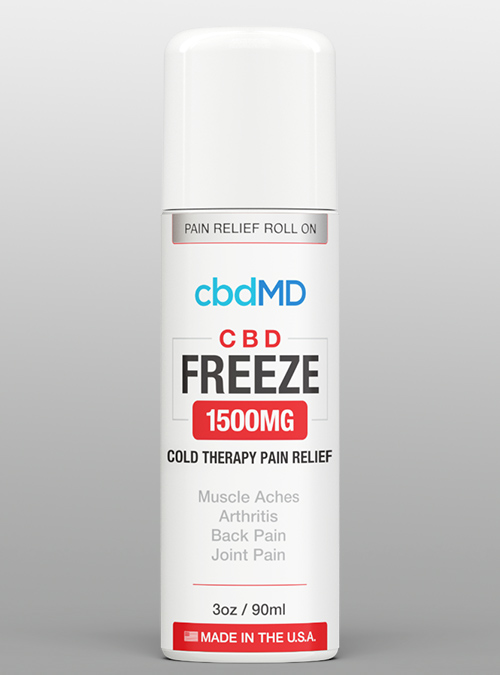 cbdmd freeze roll on 1500mg CBD - Herbane Health