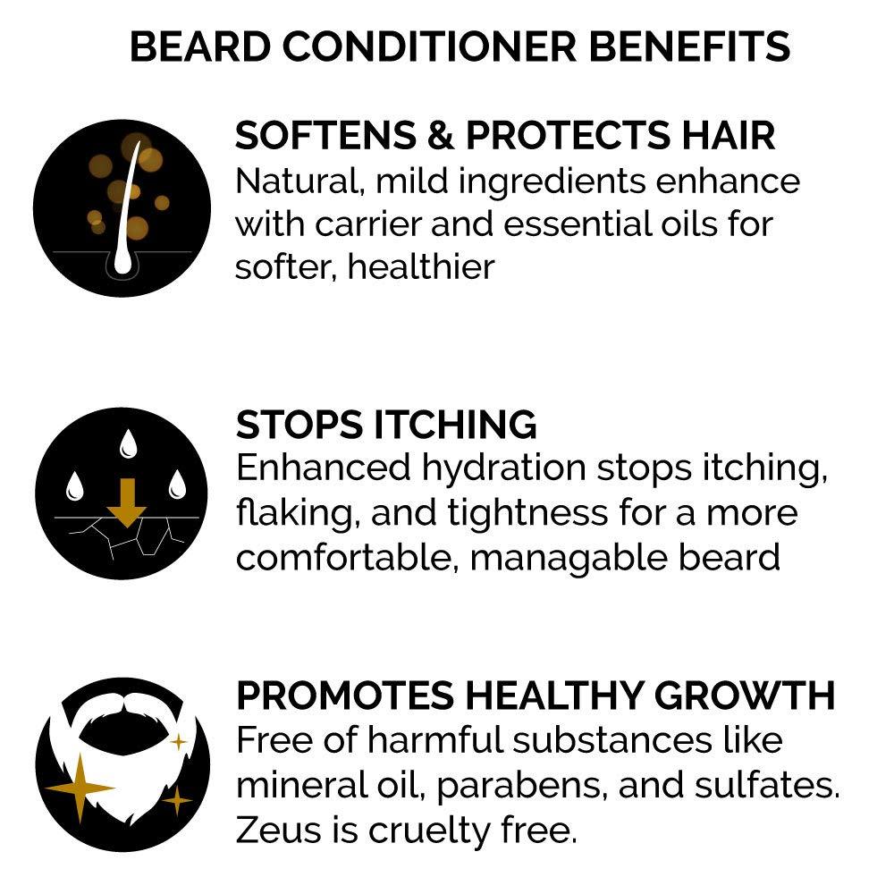 Beard Conditioner and Softener Zeus Vanilla Rum - Benefits - Herbane Health
