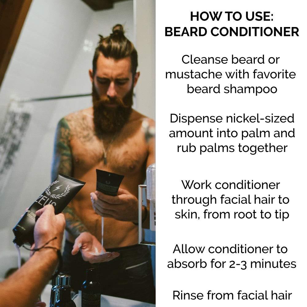 Beard Conditioner and Softener Zeus Vanilla Rum - How to Use - Herbane Health