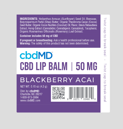 cbd lip balm cbdMD 50mg Blackberry Acai