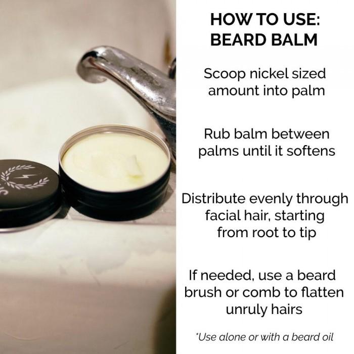 beard balm conditioner - how to use - zeus - Herbane Health