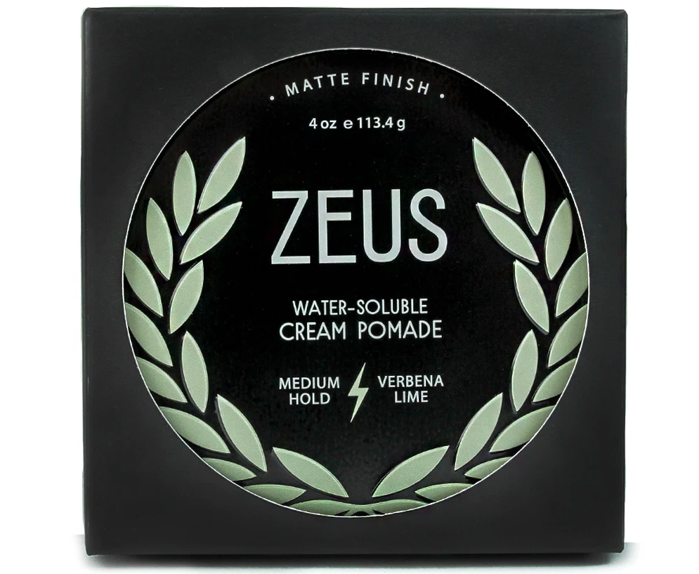 Hair Cream Pomade Medium Hold - water soluble - Zeus - Natural - Herbane